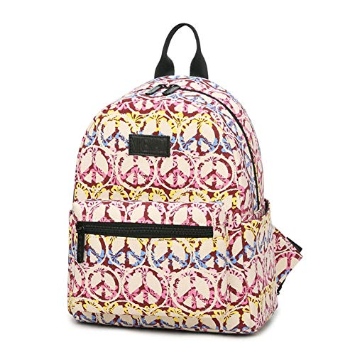 Tanmaimoos Personalisierte Reise Canvas Rucksack, College Ipad/Laptop Tasche Durable Rucksack School Bookbag Für Mädchen,Pink,24 * 13 * 28cm