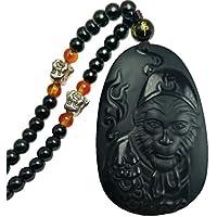clin-kk Halskette mit Anhänger, natürlicher Obsidian AFFE, König berühmter Mythos Sun Wu Kong preisvergleich bei billige-tabletten.eu