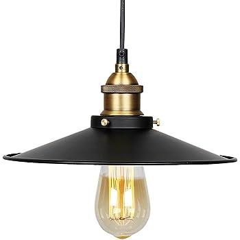 Lampe Suspension retro, Maxsal E27 Lustre Plafonniers (sans ampoule) Style  Retro Industrielle, cc021eee6e04