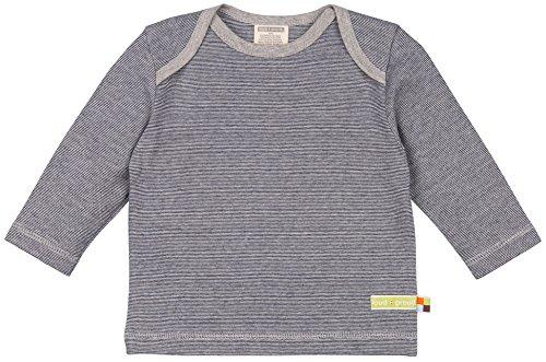 loud + proud Unisex Baby T-Shirt Shirt Ringel, Blau (Midnight/Natural Mi/Na), 104 (Herstellergröße: 98/104)