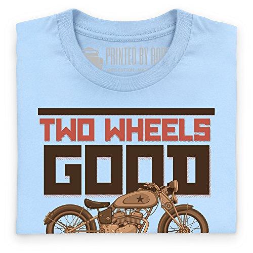 Two Wheels Good T-Shirt, Herren Himmelblau