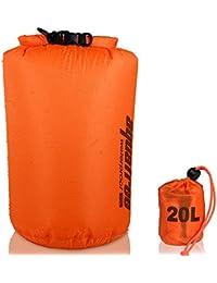 Aquafree Bolsa estanca, muy ligera, la más increíble bolsa impermeable, color naranja, color naranja, tamaño 20 L