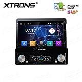 XTRONS Individual 1DIN Android 6.0Quad Core 7pulgadas motorizada desmontable HD multi-touch Screen Car Stereo En Dash Reproductor de DVD GPS Radio pantalla Mirroring función OBD2