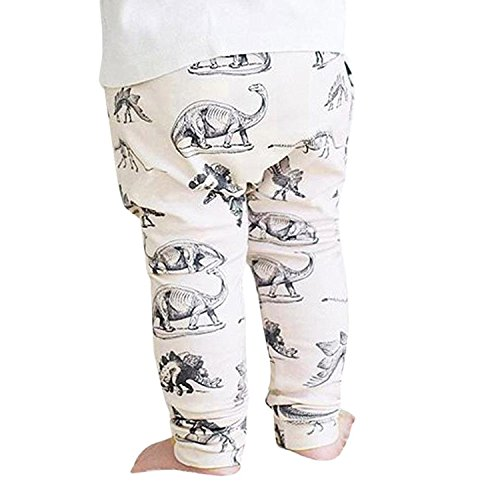 SHOBDW Boys Trousers, Toddler Baby Boys Girls Kids Cute Cartoon Animal Pants Leggings Clothes (18-24 Months, White-B)