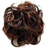 PRETTYSHOP Haarteil Haargummi Hochsteckfrisuren, Brautfrisuren, VOLUMINÖS, gelockter unordentlicher Dutt, braun mix #2T30B G9E
