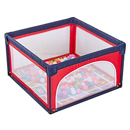 Parc bébé sécurisé avec Matelas et balles, Parc pour Enfants en Bas âge Anti-Collision, barrière de Jeu de 70 cm de Hauteur