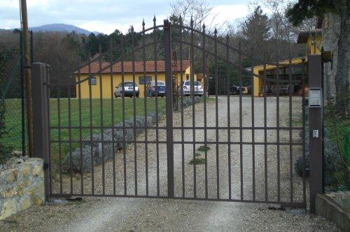 Cancello carrabile ferro battuto . realizzazioni personalizzate . 061