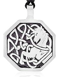 Llords - Unicornio celta peltre colgante collar
