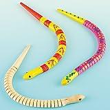 Baker Ross Schlangen aus Holz - flexibel und biegbar - für Kinder zum Bemalen (3 Stück)