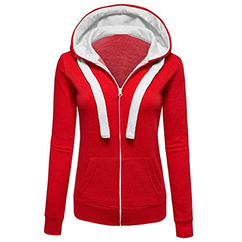mttroli Frauen Hoodies Reißverschluss Hooded Sweatshirts lange Ärmel Hoodies Pocket Jacken Mäntel (Cashmere Mantel Baker)