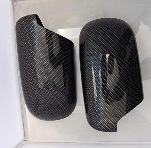 Preisvergleich Produktbild Satz Spiegelkappen Carbon-Optik passend für BMW e39 e38 Wassertansferdruck neu