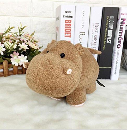 tte weiche Spaß 18x15cm Plüsch Nilpferd Tier Stofftier Hippo Puppe Geschenk für Kinder (Dunkelbraun) ()