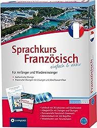 Compact Sprachkurs Französisch einfach & aktiv: Set mit 2 Büchern, 4 CDs, Grammatiktafel und Downloads (Niveau A1 - A2)