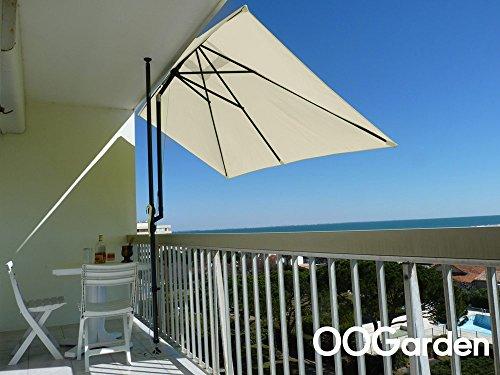 COULEURS DU MONDE - Parasol rectangulaire pour terrasse et grand balcon 3 m x 1.50 m Leo