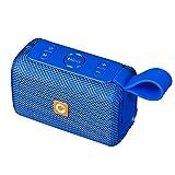 Bluetooth Lautsprecher, DOSS E-Go Bluetooth Lautsprecher Boxen Soundbox mit besserem Bass Drahtloser Tragbarer IPX6 Wasserdichter Lautsprecherbox für iPad, Tablet und Andere Android Geräte 【Blau】