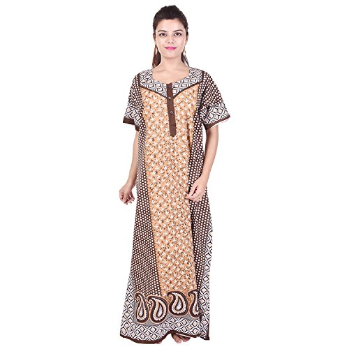 75% Silver Organisation Women Cotton Nighty Gown Sleepwear Nightwear Maxi  Soft Stylish Night Suit Cotton fadc06b80b
