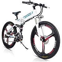JPFCAK, 26 Pulgadas, Bicicleta Eléctrica, Plegable, Bicicleta De Montaña, Batería De