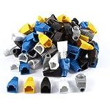 100 Cubiertas de Enchufe Conector de Cable RJ45 de Ethernet de Plástico Suave