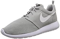 Nike Roshe Run Herren Laufschuhe, Grau (023 WOLF GREY/WHITE), 42