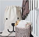nabati Faltbare Haushalt Segeltuch Waschekorb Hamper Kinder Spielzeug Veranstalter Aufbewahrungskorb