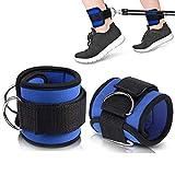 Correas de tobillo ajustable, Fit correa de muñeca tobillo para gimnasio Cable máquina WORKOUTS con pignets duraderas para abdominales, piernas y botones peso ejercicios Hombres y Mujeres Fitness (un paquete de 2)