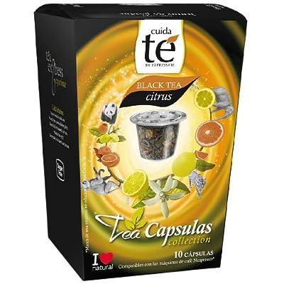 Cuida Te Black Tea Citrus, Thé Noir au Citron, Nespresso compatible, 10 Capsules