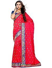 Alveera Indian Beauty Collection Latest Design Banarasi Silk Saree With Blouse - Crimson Red