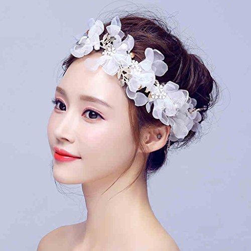 Xin Yu Yue Firm Braut-Hochzeitskleid Langer Punkt Handgemachter Kopfschmuck Einfaches...