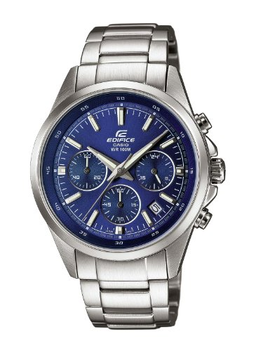 Casio orologio analogico quarzo uomo con cinturino in acciaio inox efr-527d-2avuef