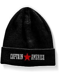 Officiellement Marchandises Sous Licence Captain America Bonnet (Noir)