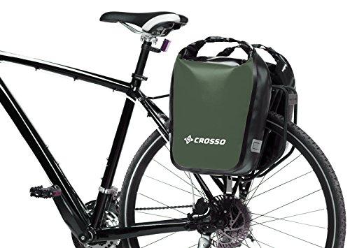 CROSSO DRY SMALL CO1010C 30 L Fahrradtasche Bike Gepäckträgertasche Gepäcktasche olivgrün