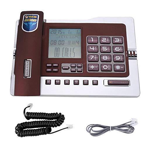 Qiterr Festnetztelefon, G026 Einfaches Tischtelefon für den Heimarbeitsplatz(rot) Paging-adapter