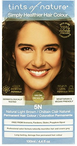 Tints of Nature Organic 5N Natural Light Brown Permanent Hair Colour 130ml -