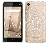Für Wiko LENNY 4 Hülle Silikon,Sunrive Transparent Handyhülle Schutzhülle Etui Case Backcover für Wiko LENNY 4(tpu Blume Weiße)+Gratis Universal Eingabestift