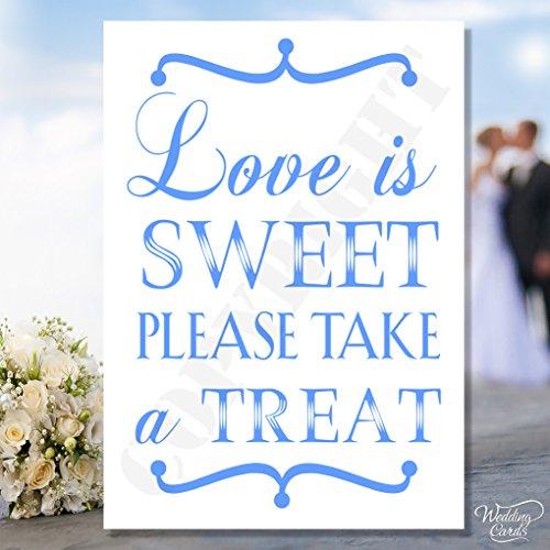 Love Is Sweet Bitte Take A Treat Sweet/Vintage Candy Buffet Schild Tischkarte Hochzeit Vintage Rustikaler Shabby Chic Novelty Andenken-personalisierbar jeder Größe, Farbe, Text A4A5A6A7 -