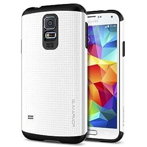 Spigen SGP10755 Slim Armor Series Schutzhülle für Samsung Galaxy S5 shimmery weiß