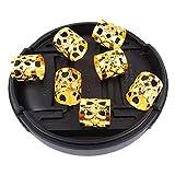A0127 10 pièces Perles de cheveux Perles de métal Anneau de cheveux Réglable...