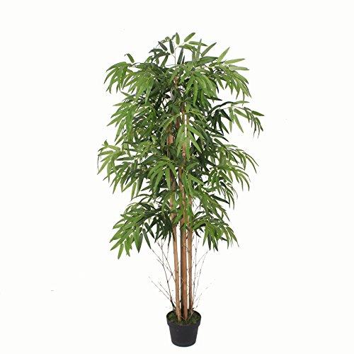 PASAMO 07115 Bambus, Echtholzstamm, Kunstpflanze 170cm