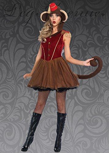 Magic Box Int. Womens niedliches Uhrwerk AFFE Kostüm L (UK 12-14)