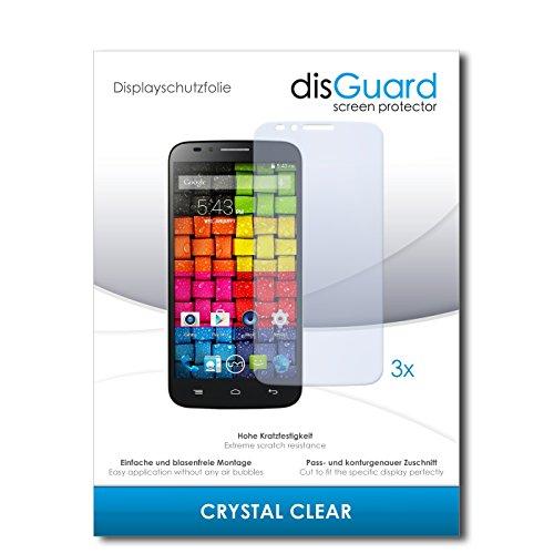 disGuard® Displayschutzfolie [Crystal Clear] kompatibel mit UMI eMax [3 Stück] Kristallklar, Transparent, Unsichtbar, Extrem Kratzfest, Anti-Fingerabdruck - Panzerglas Folie, Schutzfolie