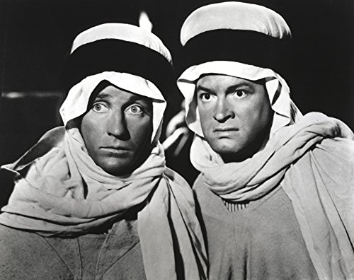 The Poster Corp Bob Hope in Arabian Outfit Along with Man Portrait with Black Background Photo Print (25,40 x 20,32 cm)