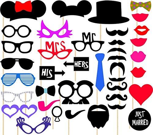 CREATICK STUIDO Board for Bachelor Party Props - Multicolor, Set of 36