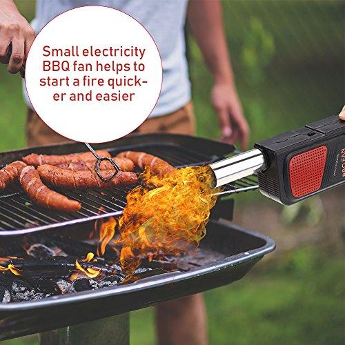 Portable Handheld Elektrische Bbq Fan Air Geblse Fr Outdoor Camping Picknick Grill Kochen Werkzeug