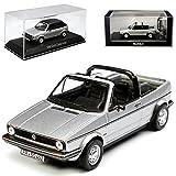 alles-meine.de GmbH Volkwagen Golf I Silber Cabrio mit abnehmbarem Dach 1979-1993 1/43 Norev Modell Auto mit individiuellem Wunschkennzeichen