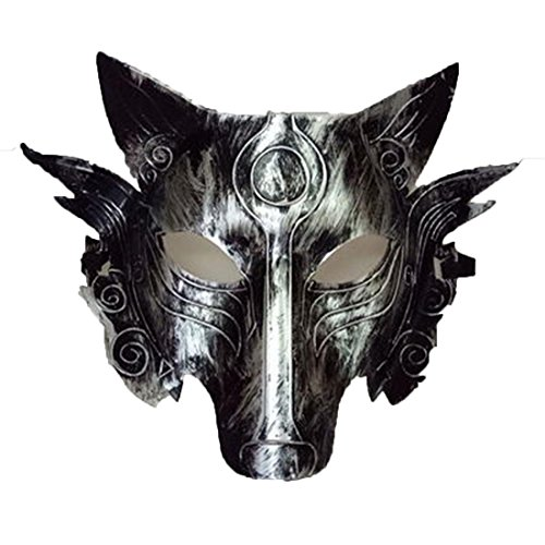 YYF Werwolf Creepy Scary Schädel Kopf Maske Halloween Party Kostüm ()
