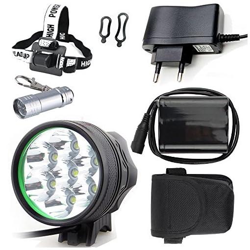 E-Fun Faro Bicicletta Anteriore led luce luci per Bici Bicicletta MTB ,Torcia da testa