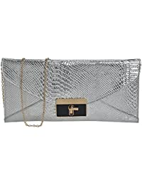 FT Synthetic Leather Made Sling Bag For Women-Silver - B079QHJTNW