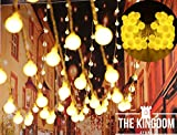 #8: The Kingdom Store™LED 20feet Globe String Lights Warm White Room Decoration Ball Fairy Lights,Fairy Lights Plug in for Indoor & Outdoor Hanging String Lights for Home Garden Wedding Party Christmas