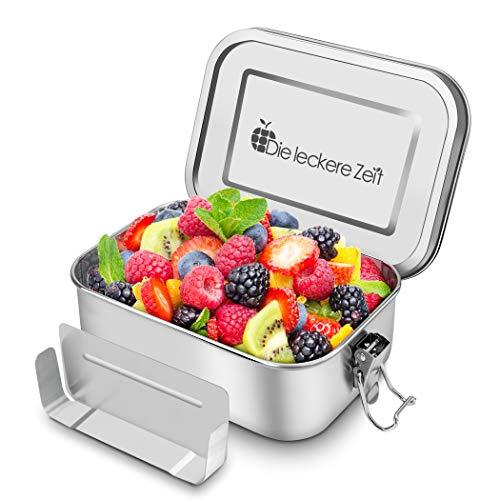 Bess Auslaufsicher Edelstahl Brotdose Umweltfreundliche Brotbox ohne Plastik & BPA Die Hochwertige Lunchbox 800ml Bento Box mit Flexibler Abtrennung zum Wandern/Reisen/Schule Kinder und Erwachsene