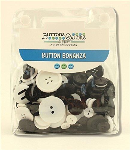 Tasten Fülle, Button Bonanza Sortiert Staubbeutel Tuxedo Schwarz und Weiß-Pro Pack - Möbel Tuxedo